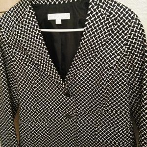 Black and White Geometric Print Jacket
